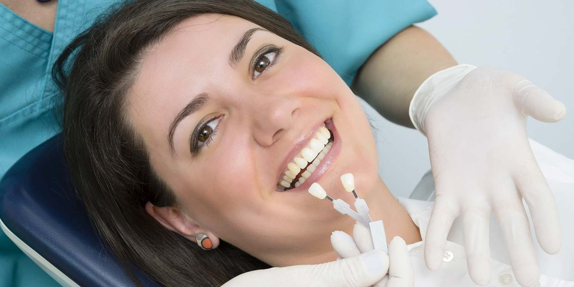 girl having dental implant
